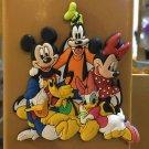 Disney Parks Fab 6 MICKEY MINNIE DONALD DAISY PLUTO AND GOOFY Fridge Magnet NEW