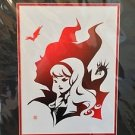 Disney WonderGround Maleficent Shadow Behind Aurora Print by Sho Murase HTF RARE
