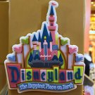 DISNEY PARKS RETRO DISNEYLAND SLEEPING BEAUTY'S CASTLE RUBBER MAGNET NEW