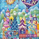 Disney WonderGround Gallery It's Small World SIGNED Postcard by Jeremiah Ketner