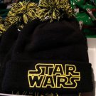 Disney Parks Star Wars Black and Yellow Beanie Headwear Brand NEW