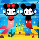 Disney WonderGround Gallery Mickey & Minnie Undersea Postcard by Michelle Romo