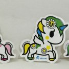 TOKIDOKI Authentic Unicorno Stellina Margherita Ruby Sticker Set NEW(3stickers)