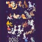 Disney WonderGround Gallery DISNEY DOGS Postcard by Bill Robinson NEW