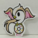 TOKIDOKI Authentic SWEET RONNIE WITH DONUT Sticker NEW WITHOUT TAGS