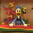 Disney Parks 3 Caballeros Medium Big Figurine by Ron Cohee NEW IN BOX
