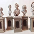 Disney Parks Haunted Mansion 45th Pillar Bust Set Figurine NEW IN BOX