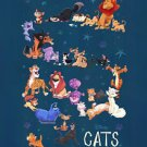 Disney WonderGround Gallery DISNEY CATS Deluxe Print by Bill Robinson NEW
