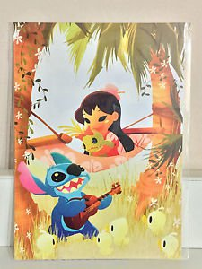 Disney WonderGround Gallery Lilo & Stitch MUSIC TO MY EARS Postcard by June Kim