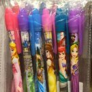 DISNEY PARKS EXCLUSIVE PRINCESS 6 PACK PEN SET BLACK INK NEW AND SEALED