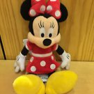 "Disney Parks Minnie Mouse Polka Dot Dress Plush Doll 10"" NEW WITH TAGS"