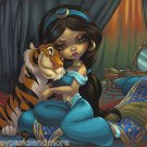 Disney WonderGround Princess Jasmine & Rajah Print by Jasmine Becket-Griffith