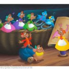Disney Parks Gus & Jaq in Help Cinderelly Deluxe Print by Don Williams NEW