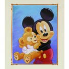 Disney Parks Mickey and His Pal Duffy Bear Deluxe Print by Monty Maldovan NEW