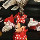 DISNEY PARKS HAPPY MINNIE MOUSE DANGLING KEYCHAIN NEW WITH TAGS