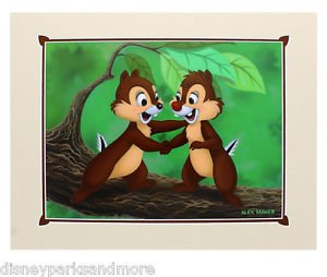 Disney Parks Chip & Dale Two Chips Deluxe Print by Alex Maher