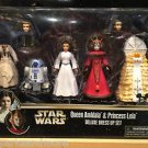Disney Parks Star Wars Queen Amidala & Princess Leia Deluxe Dress Up Set Figures
