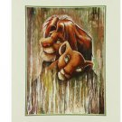 Disney Parks Lion King Fade Simba Nala Deluxe Print by Darren Wilson NEW