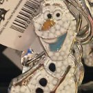 DISNEY PARKS FROZEN SPARKLING OLAF DANGLING METAL KEY CHAIN NEW WITH TAGS