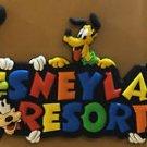 "Disneyland Fab 5 MICKEY MINNIE DONALD PLUTO & GOOFY Decorative 3"" Magnet NEW"