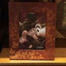 "Disney Parks 5"" x 7"" Mickey Mouse Photo Frame Wood Illustrated New Chip n Dale"