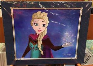 Disney Parks FROZEN Queen Elsa The Snow Queen Deluxe Print by Alex Maher NEW