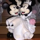 Disney Parks Mickey & Minnie Mouse Bride & Groom Wedding Ceramic Figurine NEW