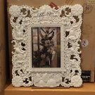 Disney Parks Sculpted Characters White Photo Frame NEW IN BOX