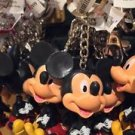 DISNEY PARKS HAPPY BUBBLE HEAD MICKEY MOUSE KEYCHAIN NEW WITH TAGS