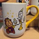 DISNEY PARKS CARTOON COGSWORTH AND LUMIERE CERAMIC COFFEE / TEA MUG CUP NEW