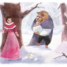 Disney WonderGround Gallery Belle Beauty & The Beast Postcard by Sydney Hanson