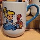 DISNEY PARKS CARTOON CINDERELLA JAQ AND GUS CERAMIC COFFEE / TEA MUG CUP NEW