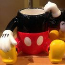 DISNEY PARKS MICKEY MOUSE FIGURINE TOOTHPICK HOLDER SHOT GLASS CUP CERAMIC NEW