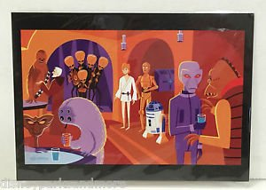 Disney WonderGround Star Wars A Wretched Hive Postcard by SHAG (RIGHT SIDE)