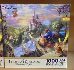 Disney Parks Thomas Kinkade Beauty and the Beast 1000 Piece Puzzle NEW IN BOX