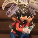 DISNEY PARKS FRUSTRATED GOOFY WITH MAP & ICE CREAM KEYCHAIN NEW WITH TAGS