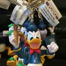DISNEY PARKS DONALD DUCK WITH ICE CREAM CONE KEYCHAIN NEW WITH TAGS