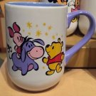 DISNEY PARKS CARTOON WINNIE THE POOH PIGLET AND EEYORE CERAMIC MUG CUP NEW