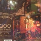 Disney Parks 1000 PIECE Pirates of the Caribbean 2-Sided Puzzle 27x20 NEW IN BOX