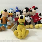 DISNEY PARKS MAGNET PLUSH DOLL SET MICKEY MINNIE DONALD PLUTO GOOFY NEW