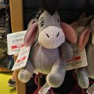 DISNEY PARKS EEYORE FROM WINNIE THE POOH PLUSH DANGLING KEYCHAIN NEW WITH TAGS