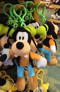 """Disney Parks Goofy 4"""" Plush Dangling Keychain New With Tags"""