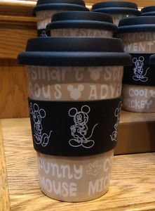 Disney Parks Mickey Mouse Descriptive Ceramic Coffee Tea Mug New