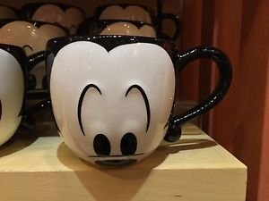 Disney Parks Mickey Mouse Mug Cup Eyes Signature Coffee Tea New