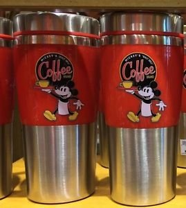 Disney  Parks Mickey Mouse Brand Coffee Travel Mug New
