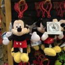"Disney Parks Mickey Mouse 4"" Plush Dangling Keychain New With Tags"