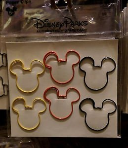 Disney Parks Mickey Mouse Icon Paper Clips Package NEW Set Of 6