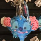 Disney Parks Rhinestone Stitch with Mirror Dangling Keychain New With Tags