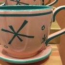Disney Parks Alice In Wonderland Mad Hatter Tea Cup Ride Pink Ceramic Mug New