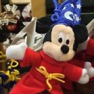 "Disney Parks Sorcerer Mickey 4"" Plush Dangling Keychain New With Tags"